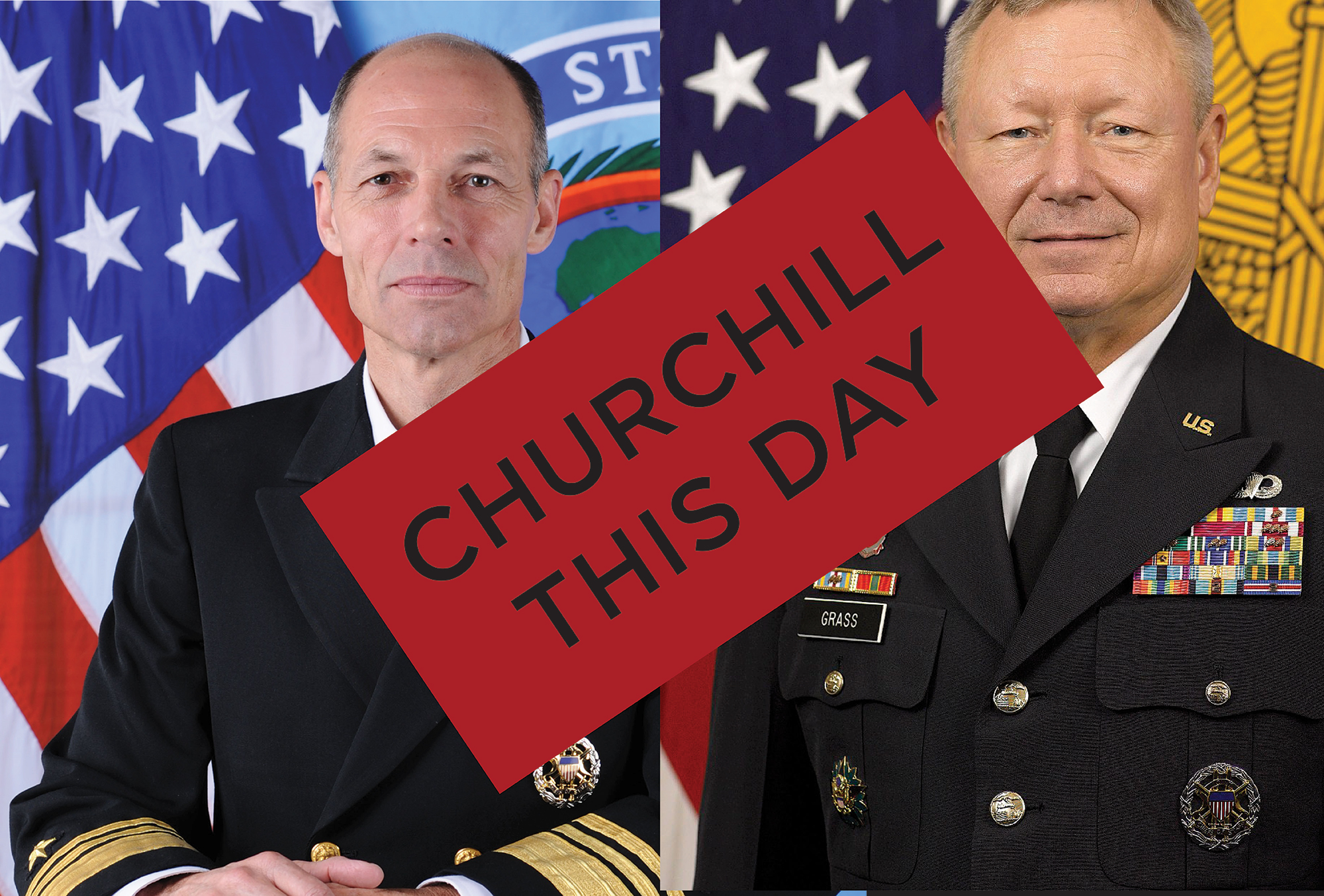 Churchill This Day Admrial Franken General Grass