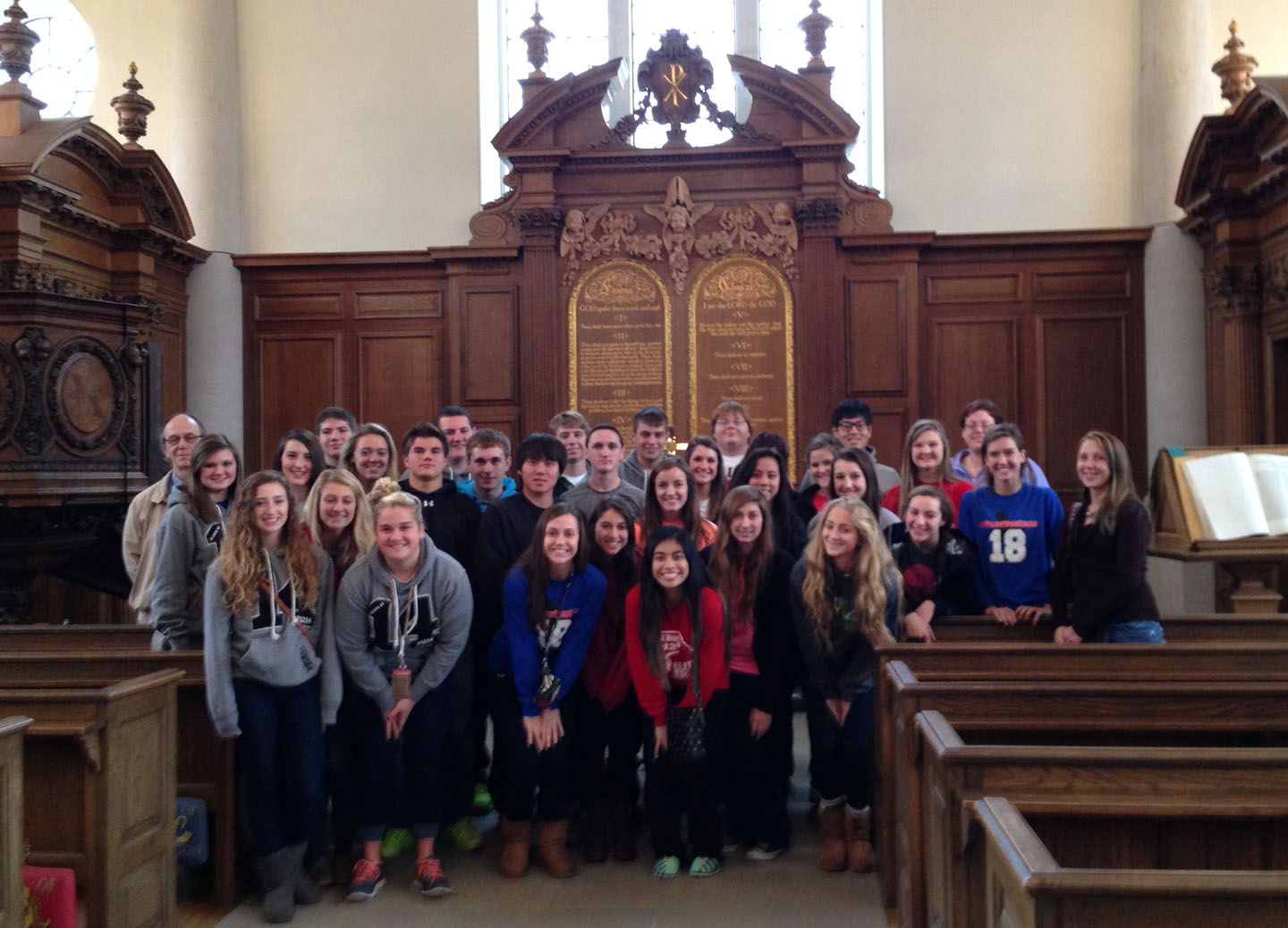 Sacred Heart visits the National Churchill Museum.